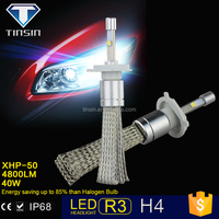 2015 new products R3 motorcycles auto car led headlamp h4,40W 4800LM IP68 ETI chip led auto headlight for toyota