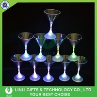 Plastic Drinking Cocktail Glass With LED