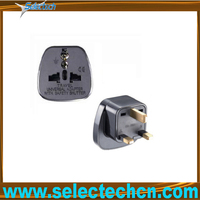 Safe Multi universal Eur to 3 pin plug multi plug adapter with security gate SES-7