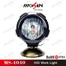 "9-32V DC 4"" HID motor xenon headlight, super bright IP-65 waterproof motorcycle HID xenon driving light (MS-4040)"