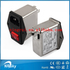 VDE approved low pass emi power line noise filter with power entry