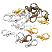 Wholesale 12.5*6mm bulk cheap lobster clasp/lock metal buckle for bags/bag buckle wholesale