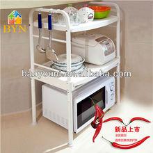 Baoyouni 2- nivel plasticmicrowave carrito de cocina microondas stand 1210 r1
