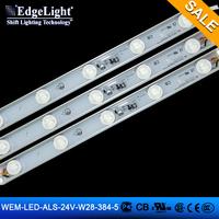 aluminum frame Edgelight EM black lit white IP65 24v waterproof EM led light strip