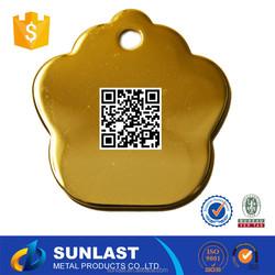 Sunlast custom wholesale two-dimension code dog tags OEM1374