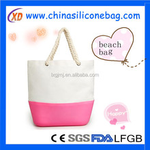 silicone plain canvas tote bag