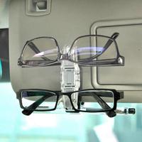 Best Car Accessories Vehicle Sun Visor Glasses Clip Holder For Dual Sunglasses Eyeglass Card Pen Paper Ticket Holder Clip