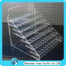 Custom-designed 7 tier acrylic display for e-juice, clear e-liquid display rack, table top display holder for e-liquid
