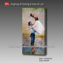 portrait painting of ballet dancer