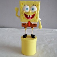 Spongebob mini plastic figure,cute cartoon custom plastic figure, cartoon characters 3D mini figure