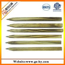 Square shape natural wood pen