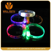 New products promotion gifts flashing LED wristbands,novelty party decorative LED products LED wristbands bangles