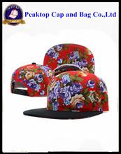 Cheap Custom Embroidery Bulk Flat Brim Snapback Cap/Snapback Hat Wholesale