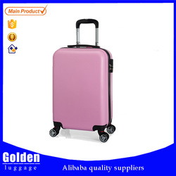 Girls cute pink color sky travel luggage bag with cheap price