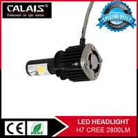 2015 New Arrival red color 30w High Quality Cob h7 led car headlights bulbs