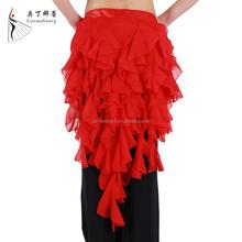 Q00659 lady belly dance chiffon skirt