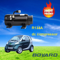 r134a dc electric car 12v compressor for electric car air conditioning with solar energy