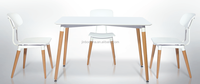 eye-catching beechwood dining table & chair
