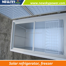 New product display freezer mini freezer for car solar freezer