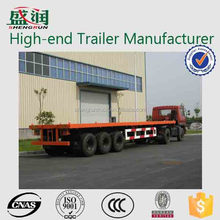 2015 best-selling factory price 50 tons 3 axles 40 ft flatbed trailer container / 50tons 40ft flatbed container truck trailer