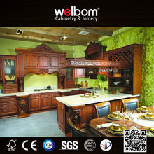 Roral Style All Wood Kitchen Cabinets