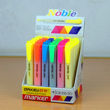 EX-factory price high quality china manufacturer fluorescent ink pen 6 color highlighter pen