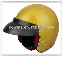 qualidade de fibra de carbono de scooter aberto capacete de alta