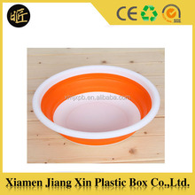 Hot selling collapsible silicone washing basin for baby