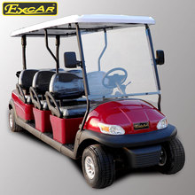from China 48V battery operated CE approved 6 passengers prices electric golf cart