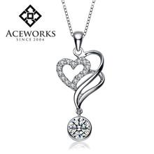 2015 Fashion 925 sterling silver lucky pendants DIY couple silver hearts pendants wholesale