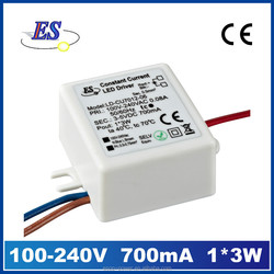 2.4-3.6W 680mA AC-DC Constant Current LED Driver(CE IP65)