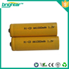 High Rate NiCD AA 800mAh rechargeable battery pack and charger for RC toy