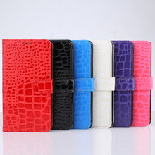Hot card holder flip Croco leather case for galaxy note 4 samsung