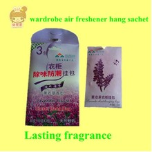 aroma scent sachet hanging bag air freshener for closet with lavender /jasmine/rose/lemon flavor