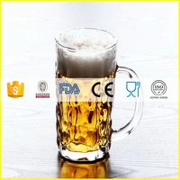 Customized promotional plastic led beer glass