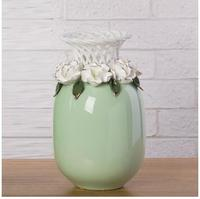 European style modern rose flower wedding home goods decorative vase