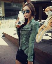 Fashion studded/retro rivet new denim jacket women cheap heavy korean green lady stud jean coat women 2015 guangzhou factory