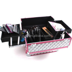 Aluminium cosmetic case,fashion and beauty makeup cases/bag in pink color