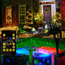 waterproof IP65 Christmas decorate light outdoor landscape lighting multi color laser projector