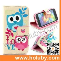Cross Pattern Wallet Style Magnetic Flip Stand TPU+PU Leather Case for Samsung Galaxy S5 Mini