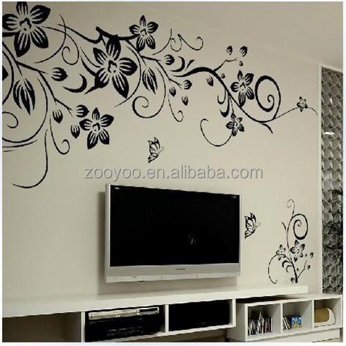 Zooyoo027s pvc extra ble tatuajes de pared decoraci n for Disenos de pintura en paredes