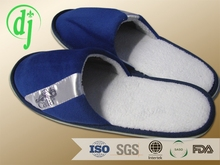 Pure white hotel indoor temperance modern slippers /terry material hotel slipper with sponge sole