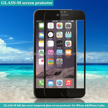 Japan Asahi full size cover tempered glass for iPhone 6 and iPhone 6 plus