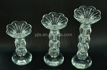 Wholesale clear glass long stem candle holder