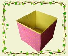 Beautiful eco friendly feature and sundries use foldable storage box, decorative paper and fabric storage box