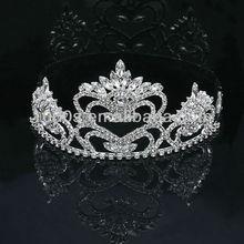 New Bridal Wedding Prom Princess Heart Crystal Silver Tiara