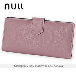 2015 new design nature grain leather ladies wallets