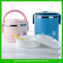 Colorful two layers stainless steel lunch box with handle