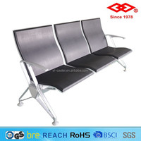 Professional made in china black color flap waiting chair