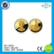 Hot Sale Free Sample Cheap Zinc alloy Both sides gold plating coin